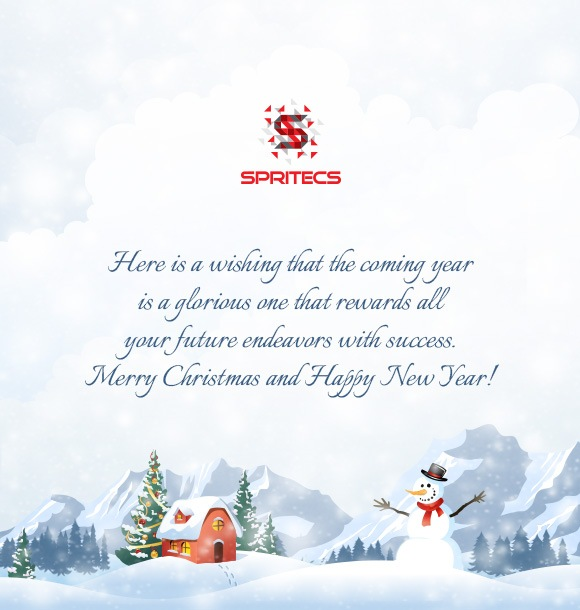 Merry Christmas and Happy New year wishes from Spritecs!