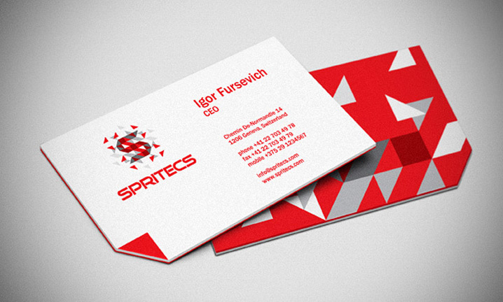 Spritecs CEO's business cards
